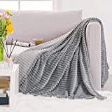 RECYCO Flannel Fleece Throw Blanket for Couch Twin Size, Super Soft Microfiber Plush Blanket Throw, Fuzzy Cozy Luxury Twin Blanket for All Seasons, 60 x 80 Inches, Dark Grey