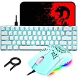 60% Mechanical Gaming Keyboard Blue Switch Mini 68 Keys Wired Type C 18