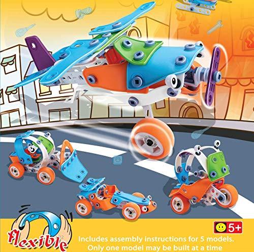 TIKTOK Dinosaur Toys, Race Tracks for Boys with 3 Dinosaurs & 1 Car Playset, Kids Toys for 3 4 5 6 7 Year Old Create A Dinosaur World Best Gifts [30 Hours Long Battery Life]