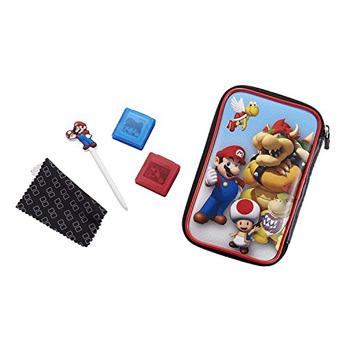 Offizielles Nintendo New 2DS XL / 3DS XL / 3DS XL - Zubehör-Set Official Essential Mario Pack, Motiv: Bowser