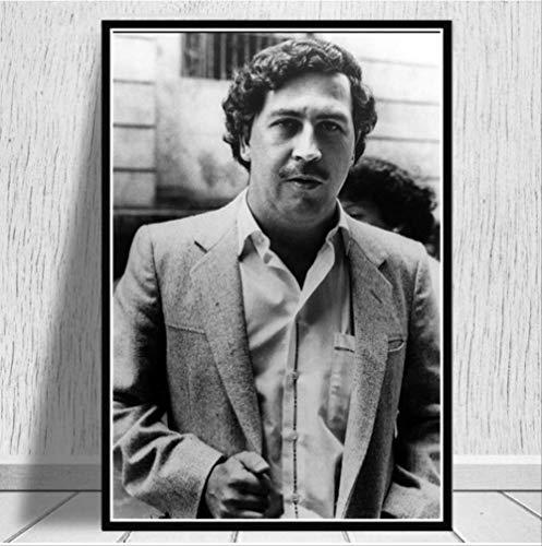 nobrand Pablo Escobar Charakter Legende Retro Vintage Poster Malerei Wandkunst Leinwand Wandbilder Für Wohnzimmer Wohnkultur 50 * 70 cm Kein Rahmen