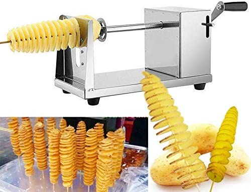 VETHOME Manual Stainless Steel Twisted Apple Potato Slicer Spiral French Fry Cutter US product image