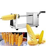 VETHOME-Manual Stainless Steel Twisted Apple Potato Slicer Spiral French Fry Cutter US