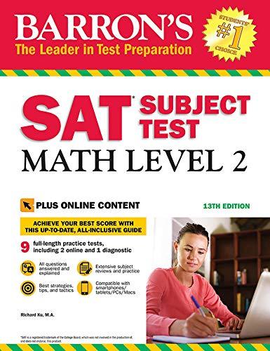 Barron's SAT Subject Test: Math Level 2, 13th Edition: With Bonus Online Tests (Barron's Test Prep)