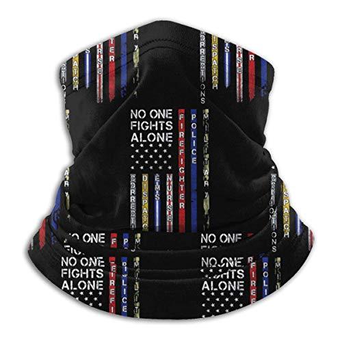 No One Fights Alone First Responders. Microfiber Neck Warmer Scarf Gaiter Headwear Tube Soft Elastic Balaclava Bandana Seamless Headband