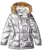 Steve Madden Girls' Big Paprika Puffer Jacket, Silver,...