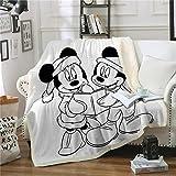 YKOUT 150X200Cm Decke Mickey Mouse, Minnie Castle Warmer Winter Sherpa Fleece Decke Tagesdecke Für Kinder Erwachsene Schlafsofa Bezüge