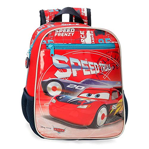 Disney Cars Speed Trails Mochila Infantil Adaptable, 28cm, Rojo