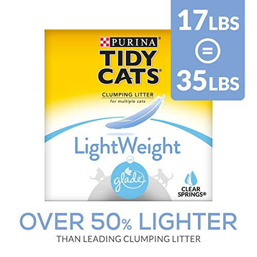 Purina Tidy Cats Light Weight, Low Dust, Clumping Cat Litter, LightWeight Glade Clear Springs Multi...