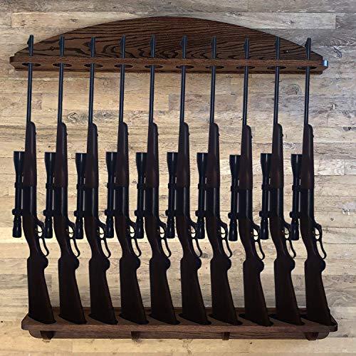 Review Of Weaver Wood Designs Gun Rack 10-Gun Solid Oak Gun Rack Wall Display