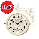 両面電波時計 両面時計 Interior Double Face Wall Clock おしゃれな インテリア 両面壁掛け時計 電波両面時計 M195 Iv-AN(A)