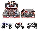PAUL 1 x Auto Quad, 1 aus 3 Farben - ca. 11cm, Motor Super Speed Cycles, Moto Car