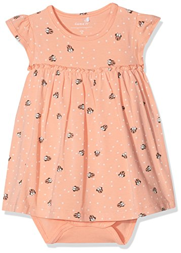 Name It Nbfminnie Petra SS Dress Wdi Robe, Multicolore (Blooming Dahlia), 62 Bébé Fille