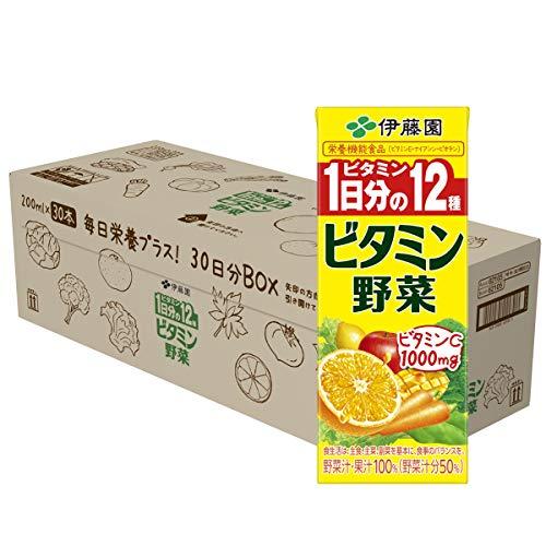 伊藤園 ビタミン野菜 30日分BOX (紙パック) 200ml ×30本