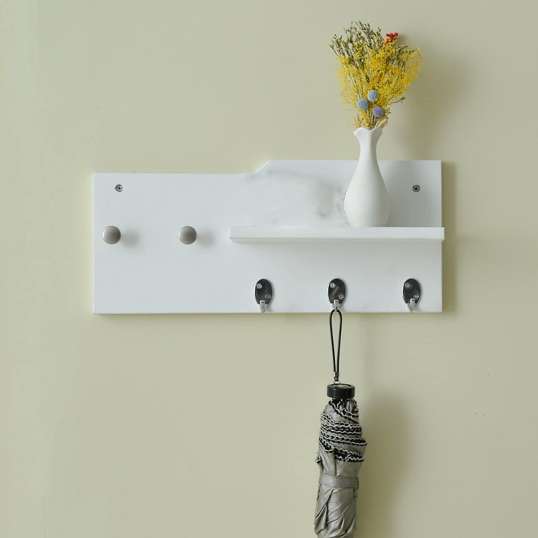 GJM Shop Black White MDF Creative Coat Rack Wall-Mounted Hanger Wall Coat Hooks Living Room Racks (color   3)