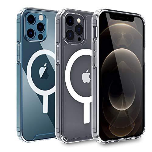 AIHülle Transparente iPhone 12 Hülle iPhone 12 Pro Hülle mit integriertem Magneten für 6,1 Zoll 2020