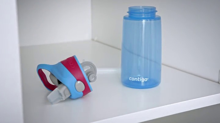 Contigo AUTOSPOUT Striker Kids Straw Water Bottle 14oz Petal Pink Leak Proof