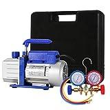 HODOY 4CFM 1 / 4HP Pompa per vuoto del refrigerante Kit HVAC Pompa per vuoto a singola fas...