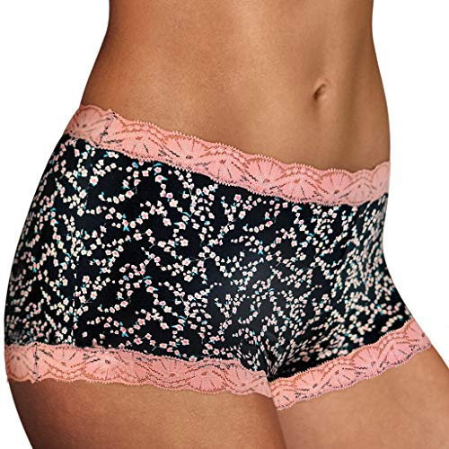 Maidenform Women's Microfiber and Lace Boyshort, Cherry Blossom, 7