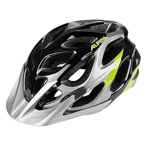 ALPINA MYTHOS 2.0 Fahrradhelm, Unisex– Erwachsene, black-darksilver-neon, 52-57