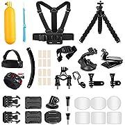 AKASO Outdoor Sports Action Camera Accessories Kit 14 in 1 for AKASO EK7000/ EK7000 Pro/Brave 4/ Brave 7 LE/ V50X/ V50 Pro/ V50 Elite/Go Pro Hero 9 in Swimming Any Other Outdoor Sports