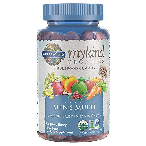 Garden of Life mykind Organics Men's Gummy Vitamins Multi Berry 120 Count (Pack of 1)