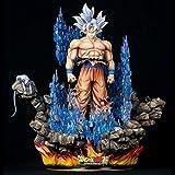 Dragon Ball Z Goku Ultra Instinct Versión Limitada 1/4 Figura de Escala con Base LED y Bola Brillante Pre-Pedido