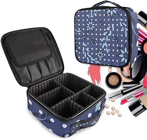 Cosmétique HZYDD Bleu Blossom Tache Make Up Bag Trousse de Toilette Zipper Sacs de Maquillage Organisateur Poche for Compartiment Femmes Filles Gratuit