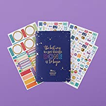Erin Condren Designer Petite Planner Budget Book Bundle - Includes Petite Planner and Illustrative, Functional, and Cute Stickers for Extra Customization