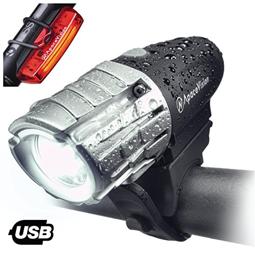 Set De Luces para Bicicleta Recargable USB Eagle Eye De