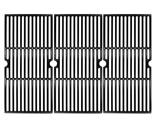 Hongso 19 1 16 Inch Porcelain Coated Cast Iron Cooking Grate Grid Grill Replacement for Brinkmann 810-1750-S, 810-1751-S, 810-3551-0 Gas Grill Models, BBQ Grill Grates, Set of 3 (PCB006)