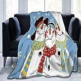PATINISA Manta,Muñeco de Nieve de Frosty & Friends,Súper Suave y Cálida Mantas de Microfibra para Cama,sofá,Dormitorio 150x200 cm