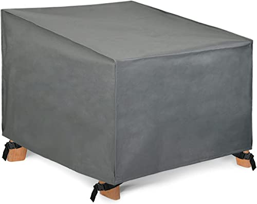 Patio Watcher Waterproof Patio Lounge Chair Cover, Grey Durable Outdoor Lawn Patio Furniture Covers, Large