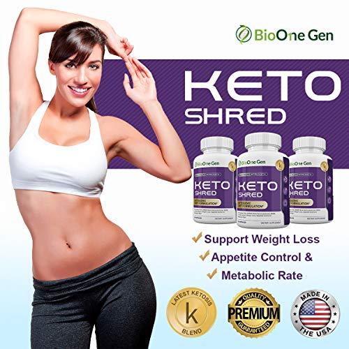 BioOneGen Keto Shred - Burn Fat Fast for Energy Hack - Beta BHB - Gluten Free - 30 Day Supply - 60 Capsules 3