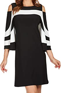 ff5a3e453ad FRANK LYMAN Womens Cold Shoulder Dress Style 176023