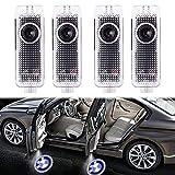 4 Stück Autotür Logo Türbeleuchtung Einstiegsleuchte Projektion Licht für Serie 3/5/6/7 E90 E91...