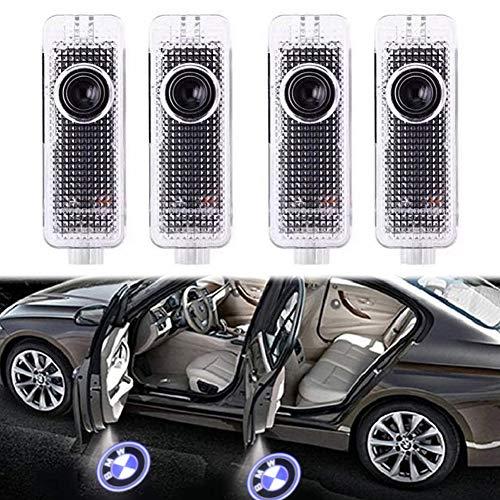 4 Stück Autotür Logo Türbeleuchtung Einstiegsleuchte Projektion Licht für Serie 3/5/6/7 E90 E91 E92 E93 M3 E60 E61 F10 M5