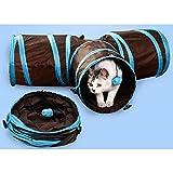 Wiiguda@Túnel Gato Plegable Divertido Juego Juguete Tubo de 3 Vías para Conejos Gatitos Perros, Mascota Plegable 3 entradas/Salidas.