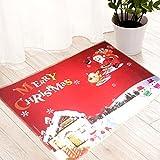 Xshuai Merry Christmas Home sala da pranzo HD stampato impermeabile morbido tappeto tappeto sala camera da letto rettangolare assorbimento antiscivolo Lavabile porta tappetini Decor 40* 60cm, A