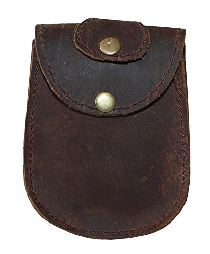JYOS Leather Car/Bike Key Case, Remote Key Leather Pouch with Belt Loop (Rustic Brown)