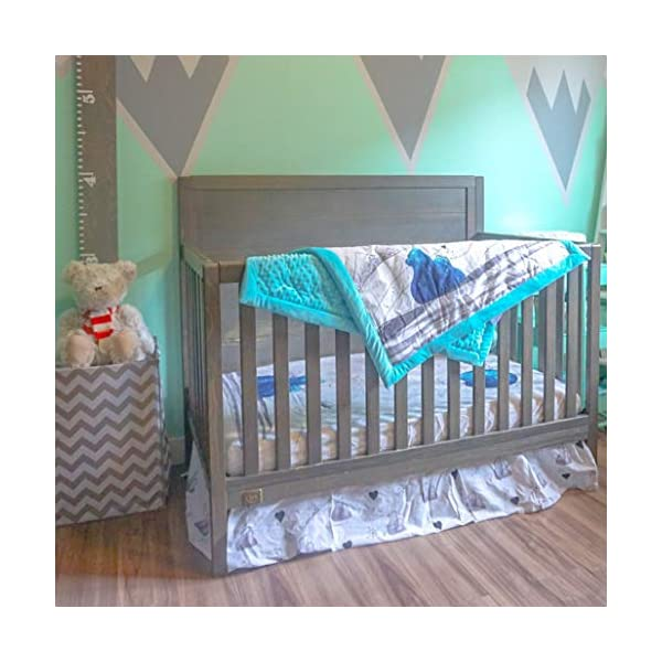 JumpOff Jo Crib Bedding Set, 3 Pieces, Blue Bear
