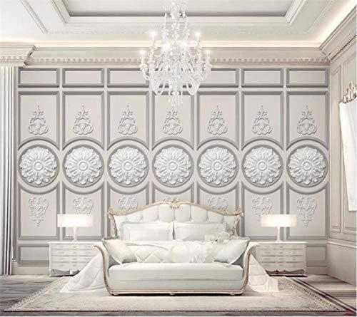 Custom Wallpaper 3D Murals Beautiful European White Plaster Carved Stereo TV Background Wallpaper