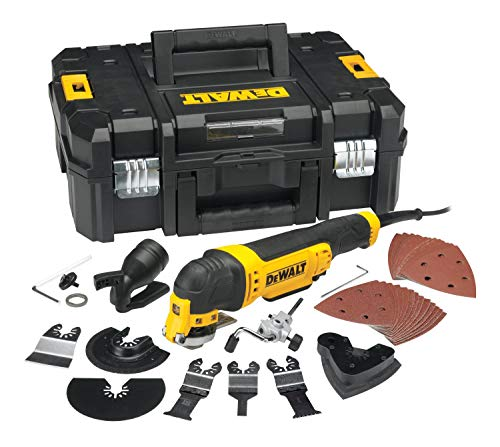 DeWalt Multifunktionswerkzeug Universal DWE315KT - Schleifer, Säge, Spachtel & Universalmesser in einem Gerät – Oszillierendes Werkzeug mit Koffer – 37-teiliges Werkzeug Set – 300W