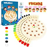 WEARXI Memory Spiel Spielzeug ab 2 3 4 jahren für Draußen Kinder, Outdoor Spiele Spielzeug Kleine Geschenke für Kinder, Gedächtnis Schach Holz Lernspielzeug ab 2 3 jahre, Family Brettspiele für Kinder