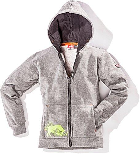 Bullstar Jungen Kinder-Kapuzen-Sweatjacke Ultra Jacke, Grau (Grau 400), 164