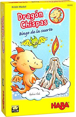 Haba- Dragón Chispas Bingo de la Suerte-ESP Juego de Mesa (Habermass H305493)
