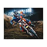 Ryan Dungey Ultra Soft Plush Luxury Lightweight Micro Fleece Blanket Home Decor Warm Anti Pilling Flannel Throw Couch Bed Sofa Office Company Bedding All Seasons Living Room Fashion 50x40 in