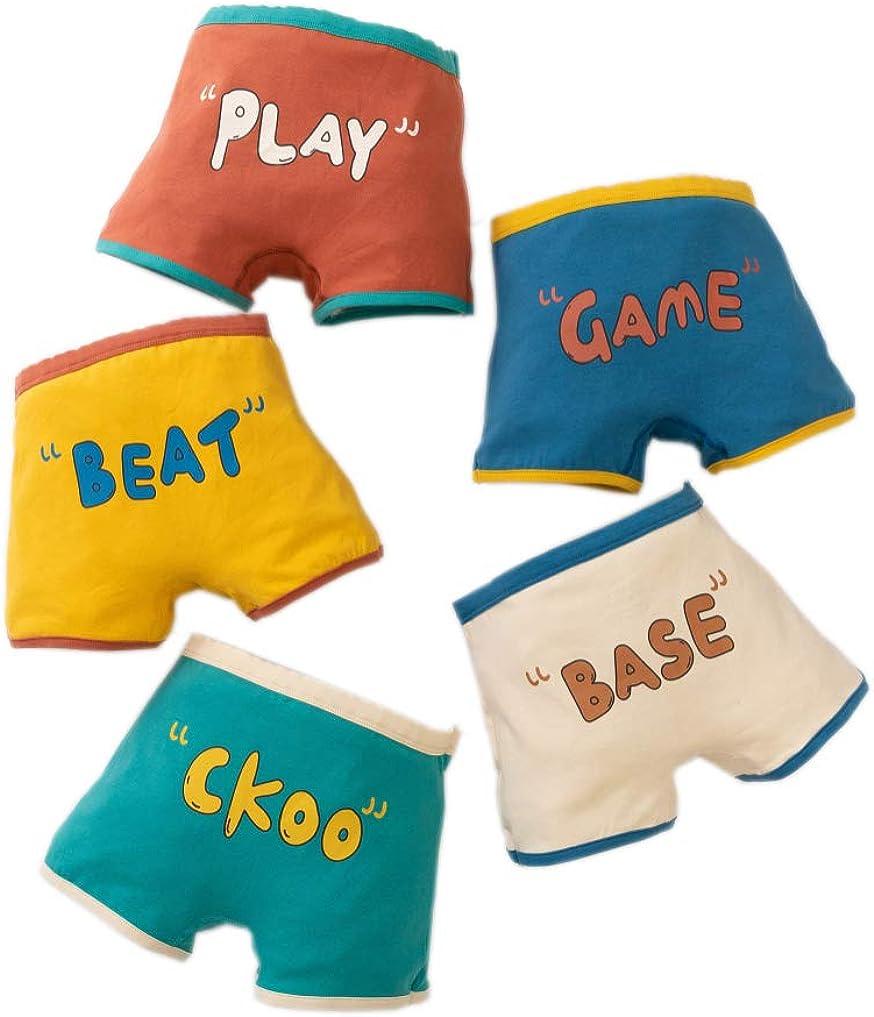 Secdtie Little Boys Soft Cotton Briefs Dinosaur Truck Shark Bear Baby Toddler Kids Underwear 5 Pack
