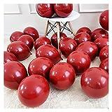 letaowl Kit Guirnalda Globos 102pcs / Set Guirnalda roja Confeti Globo cumpleaños Aniversario de Boda decoración de Fiesta