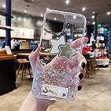 Miagon Brillantini Cover per Samsung Galaxy Note 20,Carino Bling Glitter Stelle Custodia Case Paraurti in TPU Trasparente per Donna Protettiva,Stella Chiaro